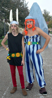 Two Asterix and Obelix cosplayers by Lynus-the-Porcupine