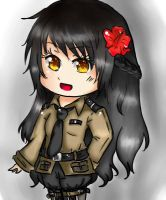 My Malaysia OC in her military uniform~!(Finished) by AhasakiYuuki