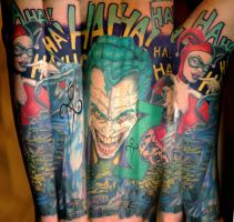 Joker and Harley Half Sleeve on 331Erock by NateTheKnife