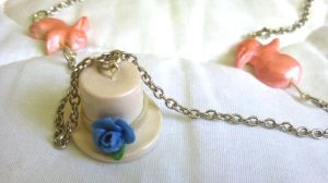 Top Hat and Bunnies Necklace by HulloSunnyDay