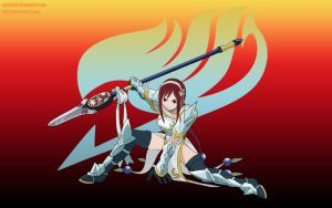 Lightning Empress Armor Erza Scarlet Wallpaper by ng9