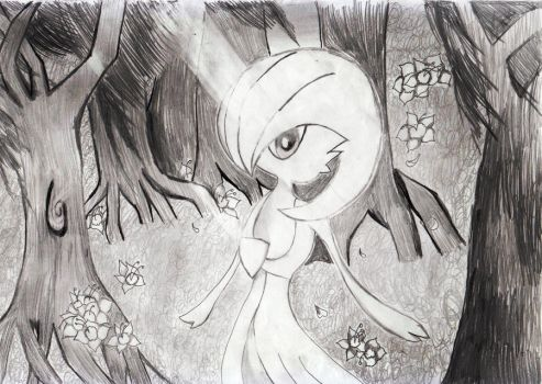 Gardevoir : Beauty of the Forest remake by SnowGua