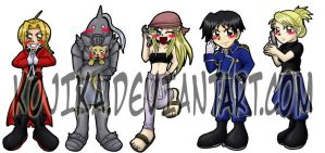 FMA Bookmark Set by kojika