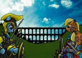 Battle For the Aqueduct by Strike-art