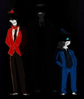 Mobtale Sans, Papurus and ??? by Thalilly