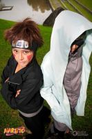 Naruto: Kiba + Shino | Top-down by bluevioletapples