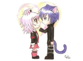 Amu and Ikuto by Ronigirl