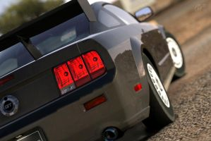 That great rear of the Mustang by Rishimaru
