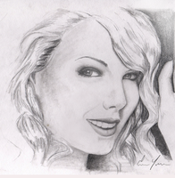 Quick Taylor Swift Drawing by inoceze7