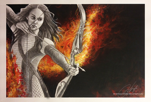 Katniss Everdeen. Catching Fire. by strannaya-anna