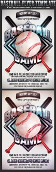 Baseball Game Flyer Template by Hotpindesigns