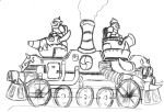 Rocket knight boss concept art Armoured train by ThePrinceofMars