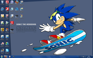 Boarding Sonic Desktop by Vertekins