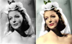Loretta Young Spanish costume before and after by ThinkingKind
