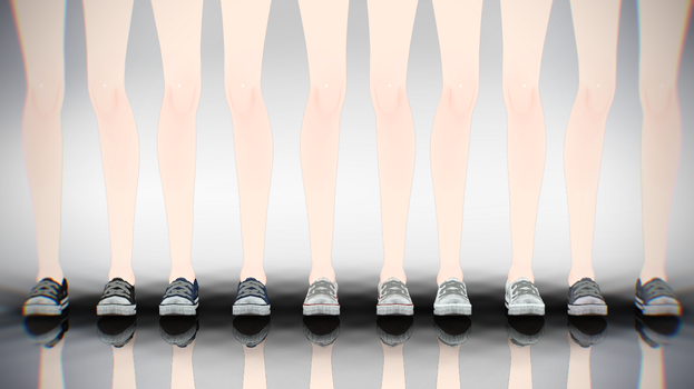 MMD Converse LowTops DL by AuroraYok