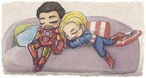 Even the mightiest heroes need to sleep by snowprism