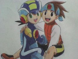 rockman and netto by ick25