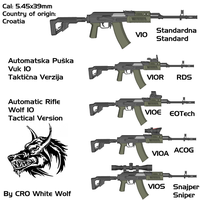 Vuk 10 weapons by crowhitewolf