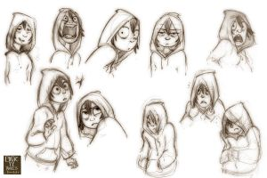 Maggie Expressions by Clairictures