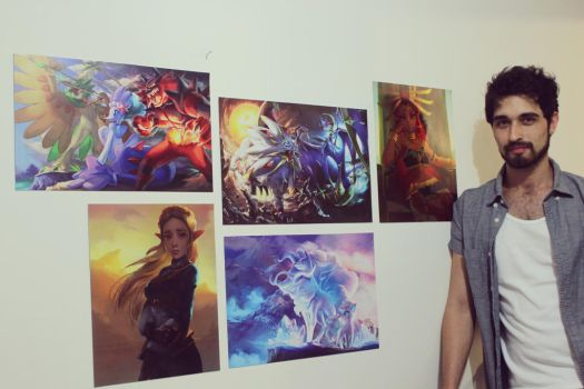Printed my  Pokemon and Zelda  artworks by logancure