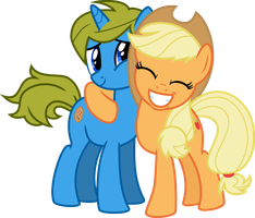 OC Commission: Cookiejoe and Applejack by Chezne