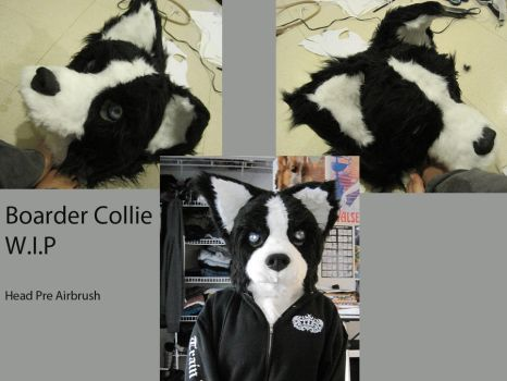 WIP Boarder Collie Fursuit by MarshMELLOkiller