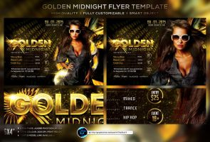 Golden Midnight Flyer Template by ranvx54