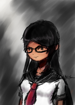glasses gal by Absolaaron