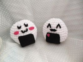 Crochet Onigiri by Ashler-Sauce