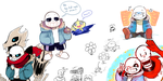 Undertale Drawpile! by sheebal