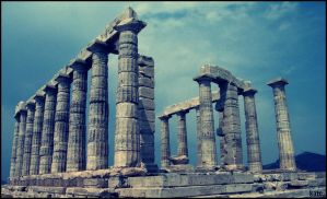 Poseidon's Temple in Greece by kate-flag