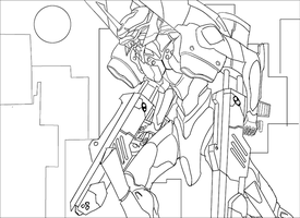 Evangelion : Rage - outline by rithgroove