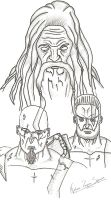 Bond of Blood - Kratos - Deimos - Zeus by zapidante