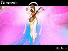 Sarasvati Goddess of Art by moai666