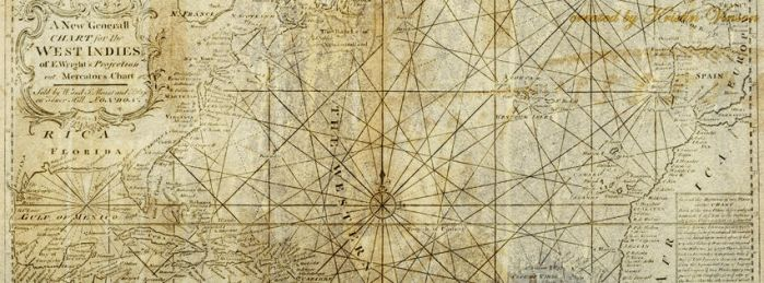 Mercators Chart of the West Indies Facebook Cover by CrystalKittyCat