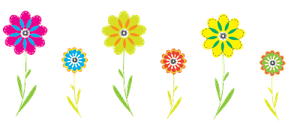 Colorful Flowers PNG by HanaBell1