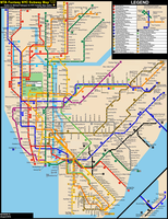 NYC Subway Fantasy Map (Revision 19: Late Nights) by ECInc2XXX