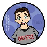 NCIS- Tony - Ohio State Shirt by ryuuri