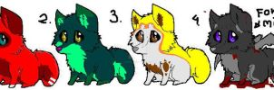 puppy point adoptables! 3/4 for 5 points by DiamondStace
