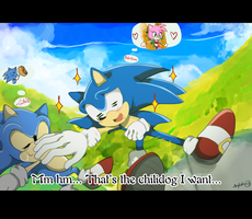 LOL Sonic is daydreaming -fake screenshot- by koda-soda