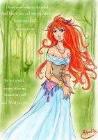 The voice in the wind by Klaudia-Ayame