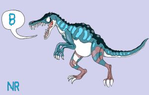B is for Baryonyx by MilkToothCuts