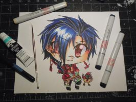 Copic Chibi Koujaku by Mireielle