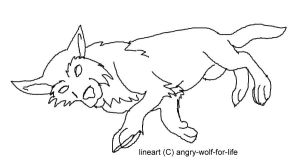 Wolfie laying down lineart by angry-wolf-for-life