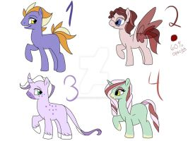 Flower based pony adopts -open- by Briannathewingedwolf