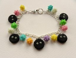 soot sprites and konpeito candy by Stefimoose