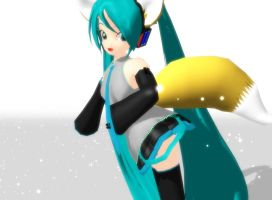MMD Fox Miku by Magic-yumi