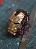 Iron man crushed helmet by Becky-Customizer