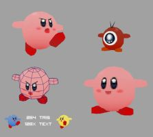 Low Poly Kirby by OzMa0