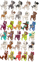 2Point Puppy Adoptables :OPEN: by Who-Butt